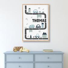 Urban Traffic Personalised Unframed Paper Print Wall Art