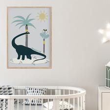 Brontosaurus Dino Personalised Unframed Paper Print Wall Art