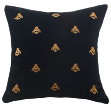 Buzz Square Cotton Velvet Cushion