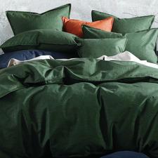 Cypress Stitch Cotton-Blend Quilt Cover Set