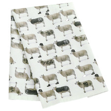 Counting Sheep Cotton-Blend Teatowel