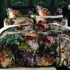 Multi-Coloured Fiori Cotton Quilt Cover Set