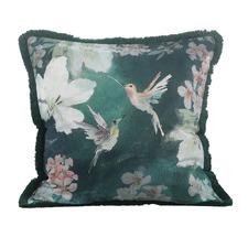 Green Avri Cotton-Linen Blend Cushion