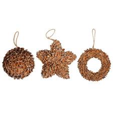 3 Piece Hanging Wreath & Ornament Set