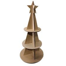 120cm Wooden Christmas Tree Display