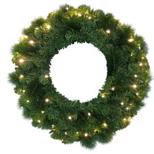 40cm Luxe Christmas Wreath with LEDs