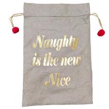 Naughty Is The New Nice Luxe Jute Gift Sack