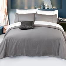 Pewter 2000TC Luxury Cotton-Blend Quilt Cover Set