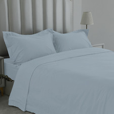 Blue 1000TC Egyptian Cotton Sateen Quilt Cover Set