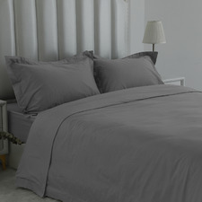 Pewter 1000TC Egyptian Cotton Sateen Quilt Cover Set