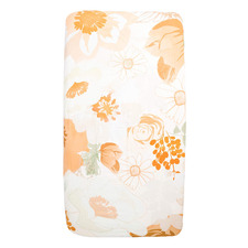 Retro Flowers Cotton Cot Fitted Sheet
