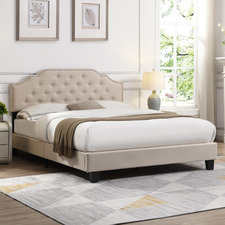Beige Jerson Upholstered Bed