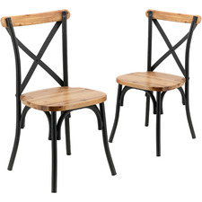Natural Juniper Cross Back Dining Chairs (Set of 2)