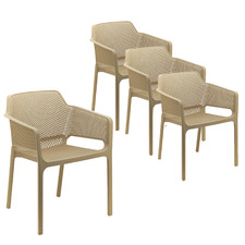 Amina Outdoor Dining Chairs (Set of 4)