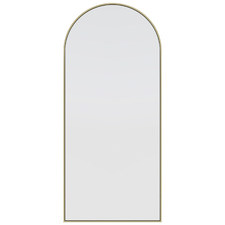 Satin Brass Arched Stainless Steel Leaner Mirror