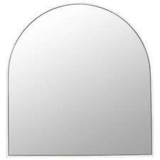 Arched Stainless Steel Wall Mirror