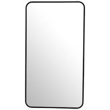 Black Radius Corner Stainless Steel Wall Mirror