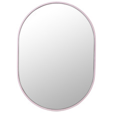 Pink Pill Shaped Stainless Steel Wall Mirror