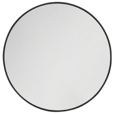 Black Round Stainless Steel Wall Mirror