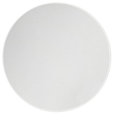 White Round Stainless Steel Wall Mirror