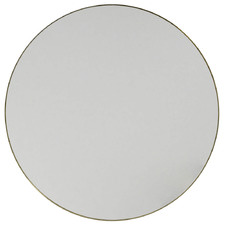 Satin Brass Round Stainless Steel Wall Mirror