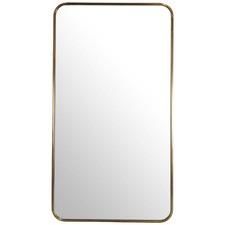 Satin Brass Radius Corner Stainless Steel Wall Mirror