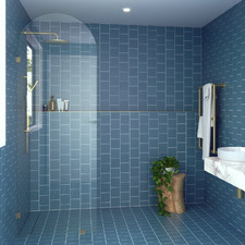 Arch Clear Shower Screen