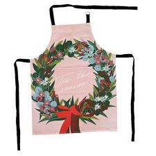 Christmas Wreath Cotton Apron