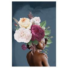 Lady & Flower II Canvas Wall Art