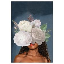 Lady & Flower I Canvas Wall Art