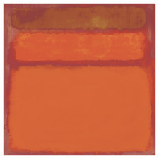 Colour Fields Orange, Red & Yellow Square Acrylic Wall Art