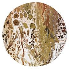 Deserted Round Acrylic Wall Art
