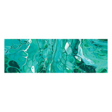 Life Is A Mystery Emerald Long Acrylic Wall Art