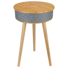 Clevinger Smart Side Table with Wireless Speaker & Phone Charger