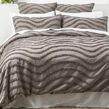 Grey Wave Cotton Quilt Cover Set