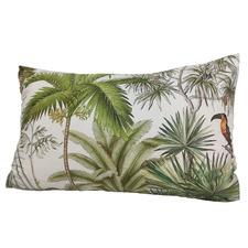 Macaw RocoColonial Rectangular Velvet Cushion