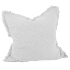 Fringed Hazelhurst French Linen Cushion