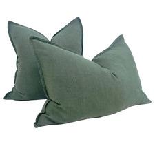 Stonewashed Reims French Linen Cushion