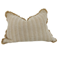 Rustic Country Road Jute-Blend Lumbar Cushion