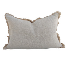 Bedouin Rustic Jute Linen Lumbar Cushion