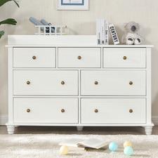 Joy Baby White Royal 7 Drawer Change Table