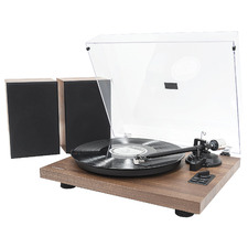 Walnut Hi-Fi Turntable Player with Bluetooth & Speakers