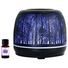 500ml Black Metal Aroma Diffuser with Essential Oil