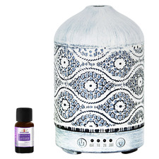 100ml Vintage White Metal Aroma Diffuser with Essential Oil