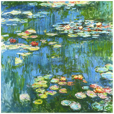 Water Lilies Stretched Canvas Wall Art