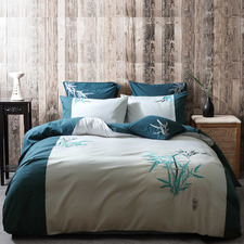Teal & Aqua Oriental Quilt Cover Set