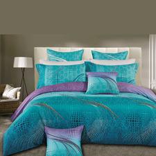 Turquoise Aqua Luxton Quilt Cover Set