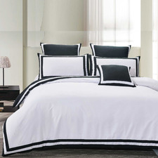 Black & White Halsey Quilt Cover set