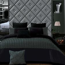 Black & Grey Cossette Quilt Cover Set
