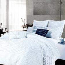 White Cossette Quilt Cover Set
